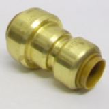Brass Push Fit Reducer 22mm to 15mm Adapter - 27012215